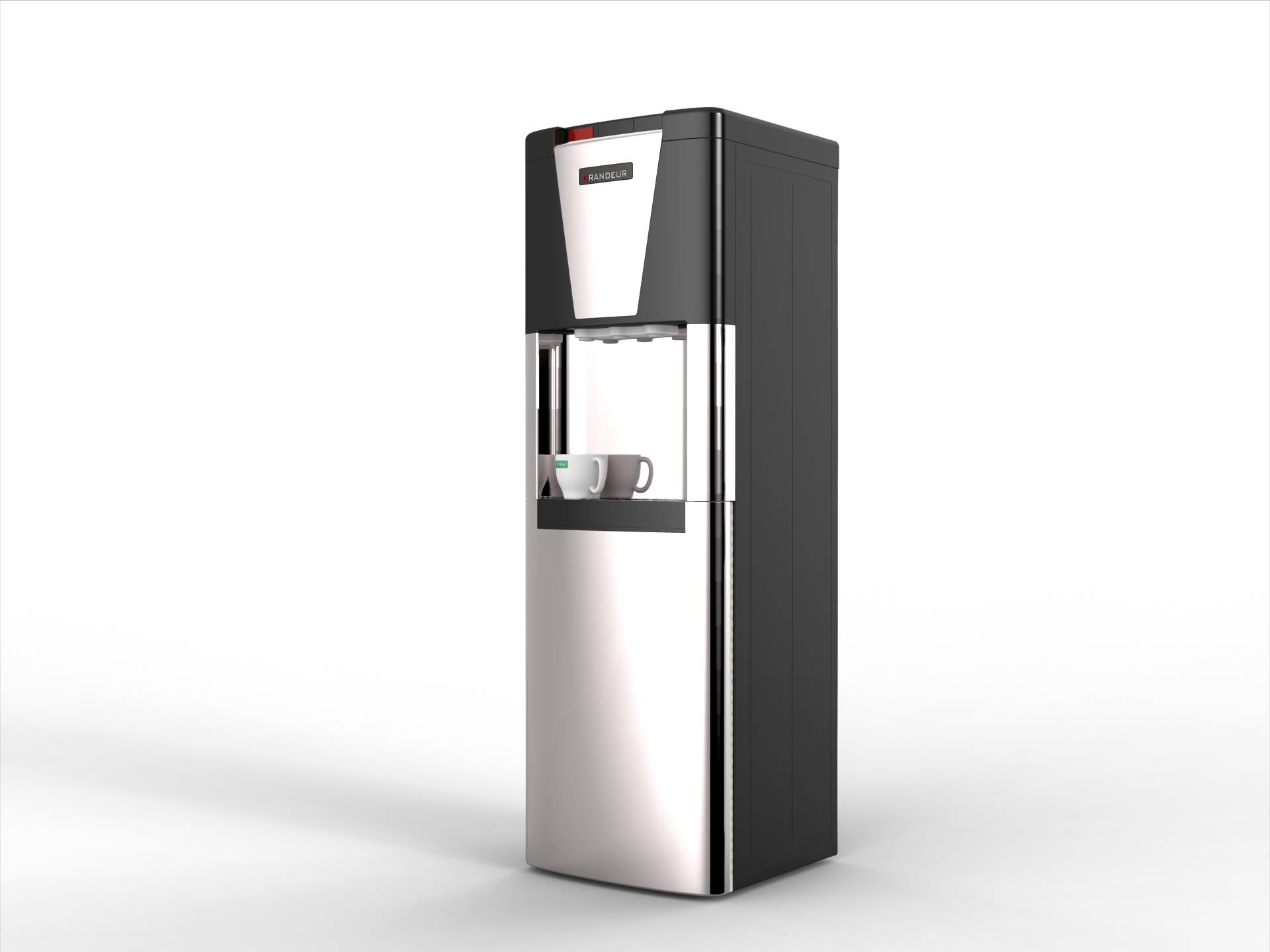 Compressor Cooling Ground Loading Water Cooler Stainless Steel Bottom Loading Water Dispenser
