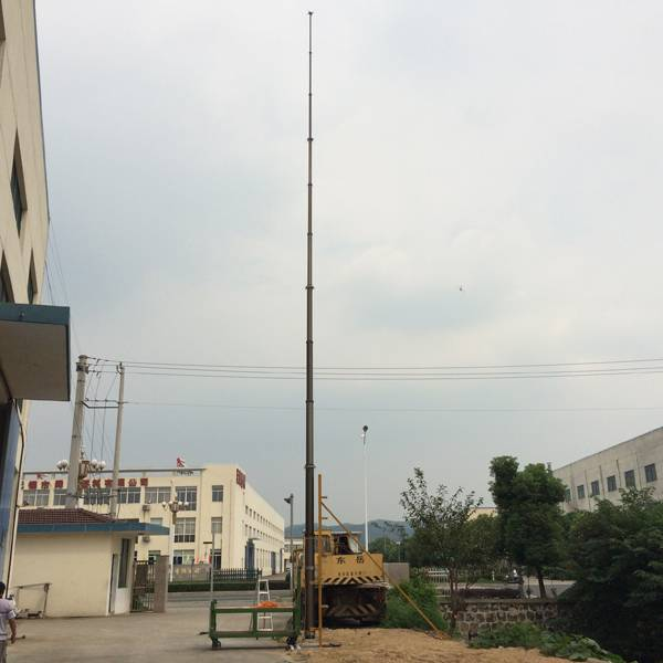 21m light duty non lockable pneumatic telescopic mast for mobile antenna