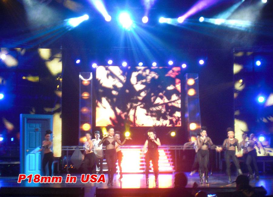 FLC Series Flexible LED Dsiplay P18.25 for live show in USA Huasun Jodie