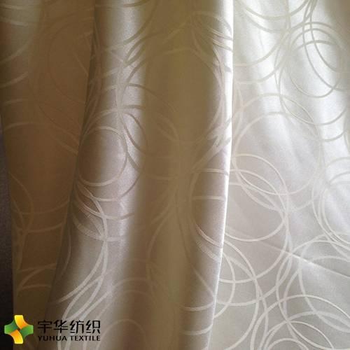 Yellow Big Jacquard Circle Blackout Curtain Fabric Home Textile