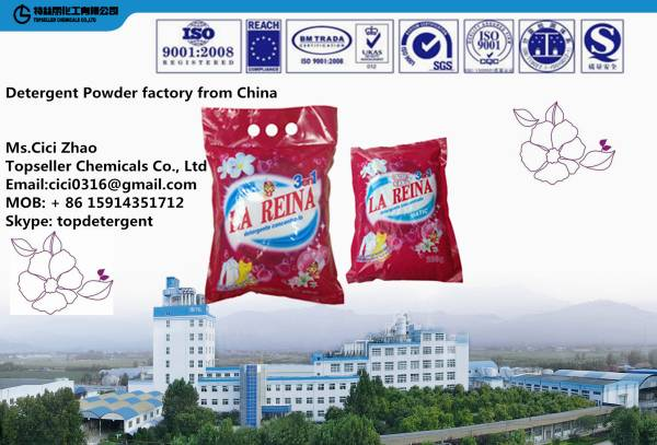 Chile LAREINA 200g 1kg high quality Detergent Powder factory Soap Powder washing powder manufactur