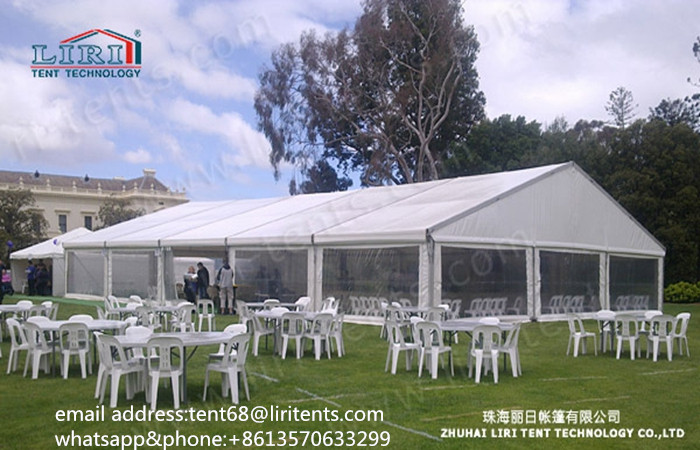 Sell Aluminum Wedding Party Tent with White PVC Roof Cover and Clear PVC Sidewalls