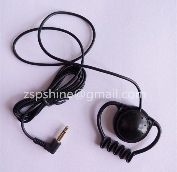 Professional Ear Hook Earphone Meeting Monitar headphone with 3.5mm Stereo Jack for Office worker Me