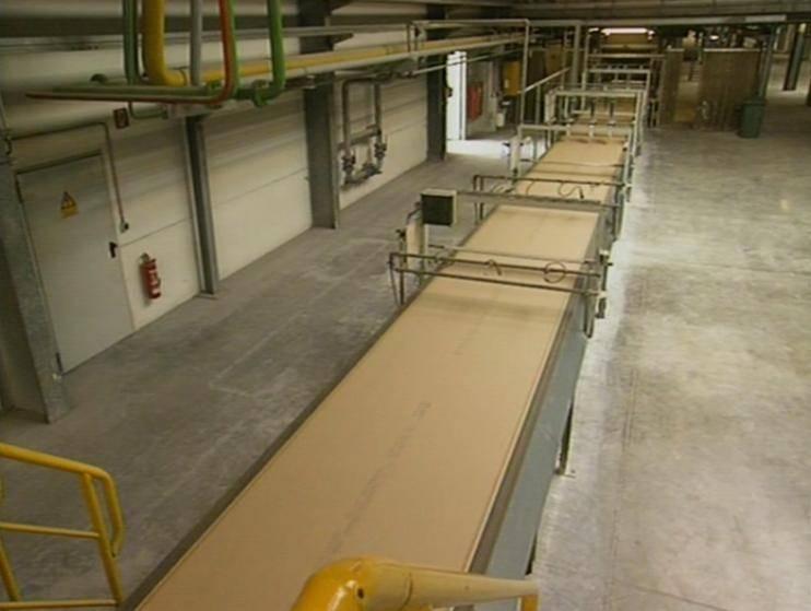 Plaster board machine
