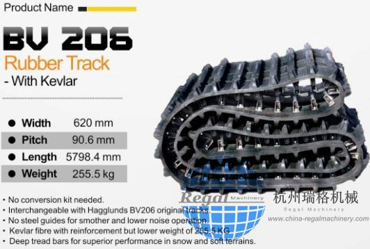High quality rubber track undercarriage OEM