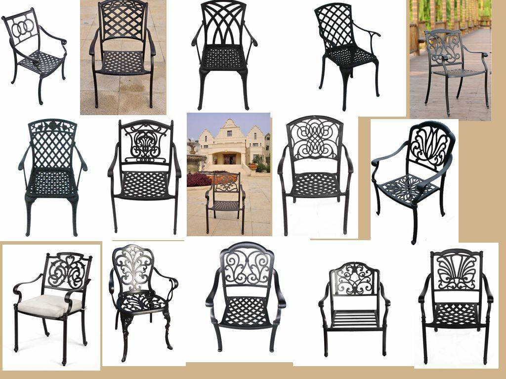 Outdoor aluminum stack chairs