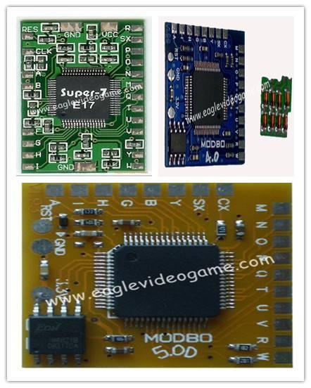 PS2 Modify Chips Modchip IC MODBO5.0/MODBO4.0&Modchip IC SUPER7 E17