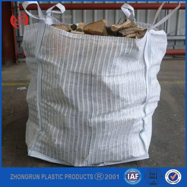 firewood big bag, fibc for wood, jumbo bag for firewood, big bag with vent for breathable