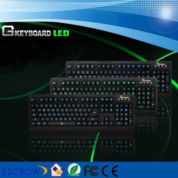 blacklight waterproof game keyboard