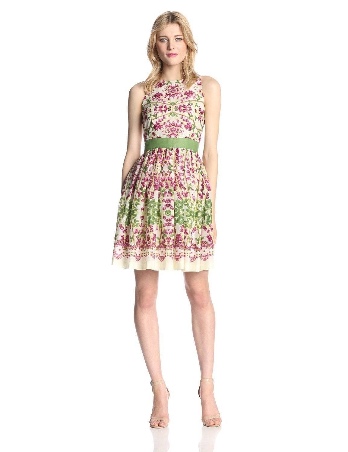 Taylor Dresses Women's Sleeveless Printed Knee Length Dress