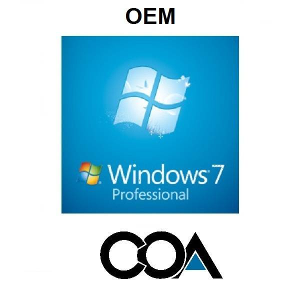 Microsoft Windows 7 Professional OEM COA Sticker