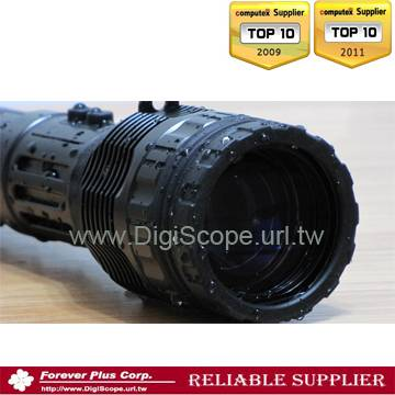LED Focal Zoom (3.2X) Lens Rechargeable police Flashlight