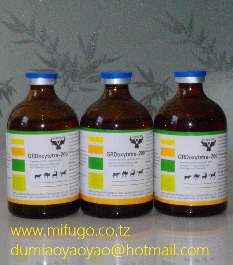 GMP Certificated L.A 20% Oxytetracycline Injection For Vet Use