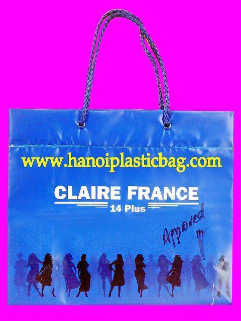 drawstring plastic handle bag