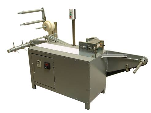 Single roller gauze rolling machine / Gauze swab prefolding machine