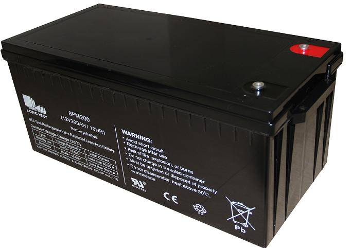 valve regulated lead acid battery 6FM200(12v200ah/10hr)