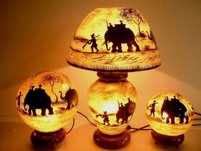 Decoration  Hand painted Lamps