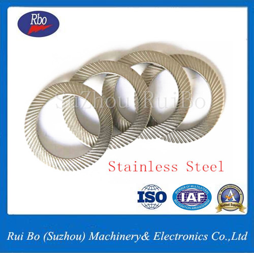 High Quality DIN9250 Double side knurl lock washers with ISO