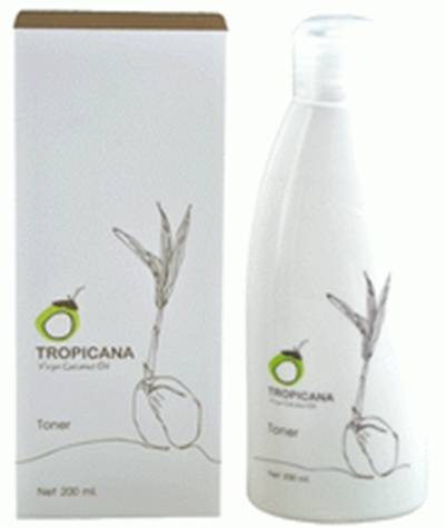 Tropicana Organic Coconut Skin Toner for moistenting and preparing the skin 200 ml.