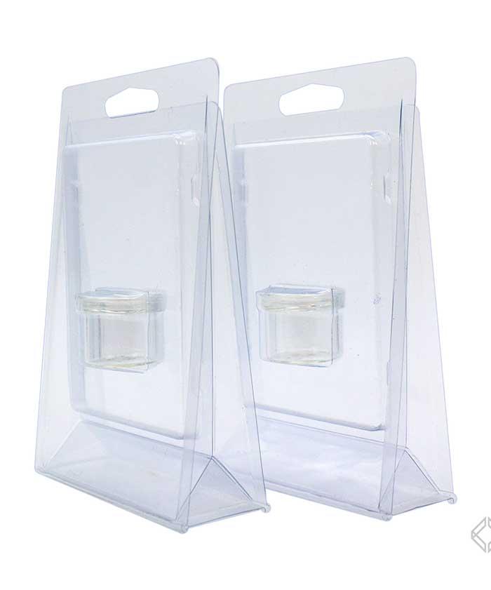 6ml Glass Jar Clamshell Blister Packs