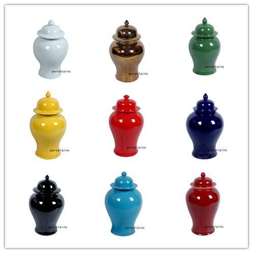 Solid color Ceramic Gingar Jar