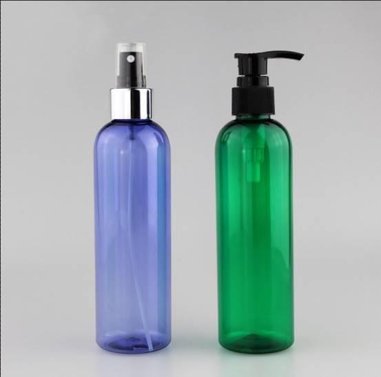 250ml plastic pump bottle, semitransparent PET plastic bottle