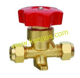 Flare type Hand Valve for refrigeration and air conditioner (shut off valve, HVAC/R spare parts