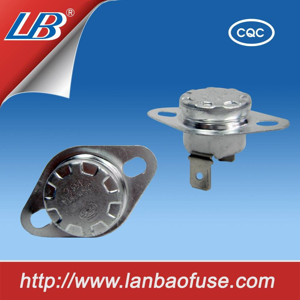 Hot stabe working temperture rapid action long life bimetal thermostat for water heater parts