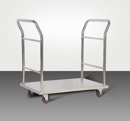 Double handrail stainless steel logistics utility trolleys RCS-0113