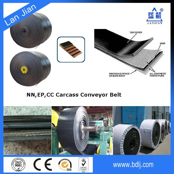 500~3000N/mm tensile strength EP/CC multy ply fabric heat resistant conveyor belt,conveyor heat mate