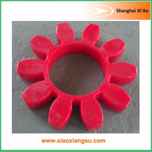 Red Polyurethane Plum cushion-type flexible coupling