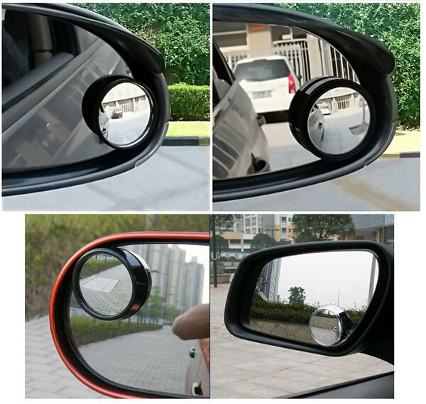 1Pair New Driver 2 Side Wide Angle Round Convex Car Vehicle Mirror Blind Spot Auto RearView