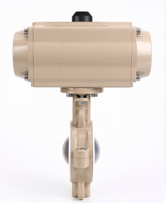 PFA lined electric flange fluorine lined butterfly valves