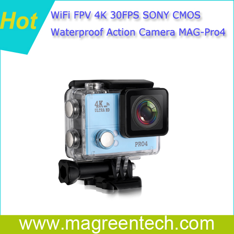 Hot WIFI 4K 30fps SONY 45meters Underwater action camcorder, sports camera FPV video recorder