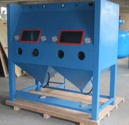 Multi-station sandblasting machine HST-1515D