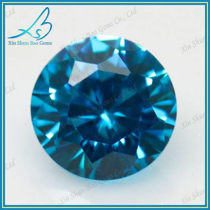 1mm~15mm Cubic zirconia gemstone type synthetic aquamarine stone