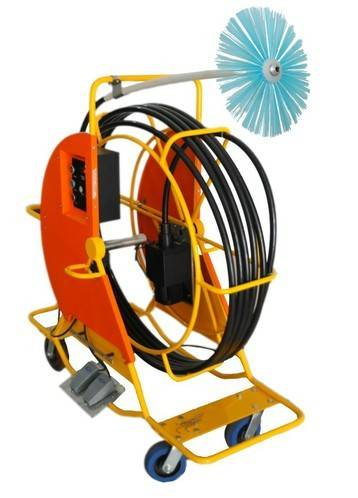 Air duct Electrical Flexible Shaft Cleaning Machine