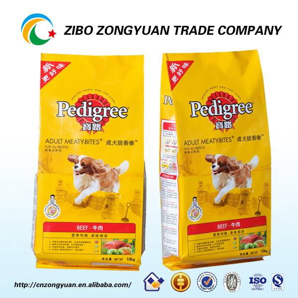 Low price plastic pet food bags on sale