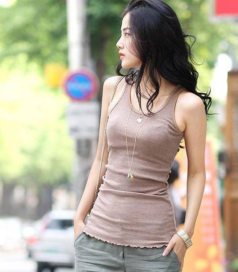 Sleeveless Tops Korean Sleeveless Lotus Leaf Bottom Dress