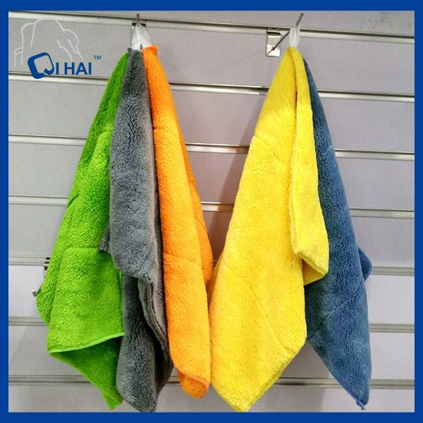 Double Side Coral Fleece Microfiber Kitchen Towel (QHM66490)