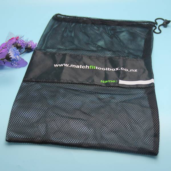 polyester mesh bag for sports with logo printed