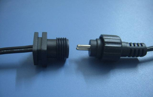 Male and female plug cord