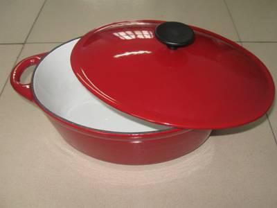 Cast iron enamel casserole A24C