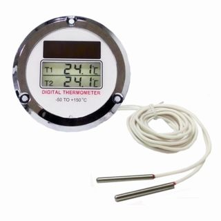 Dual Display Solar Powered Digital Thermometer RT-355