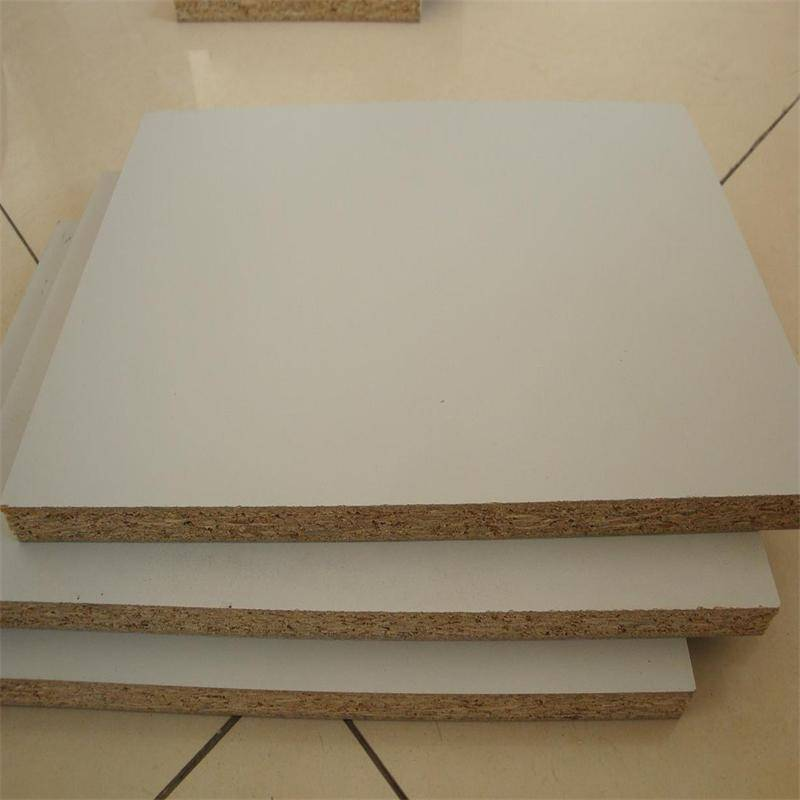 E0 grade glue melamine particle board factory