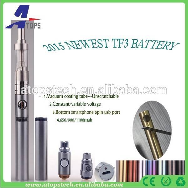 Newest TF3 battery rebuildable e cigarette 5pin passthrough vaporizer pen