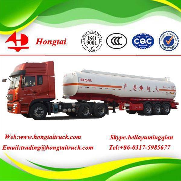 3-axles 47.6 m3 fuel tanker semi trailer
