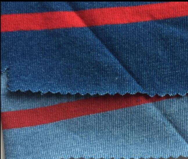 color-stripes single jersey