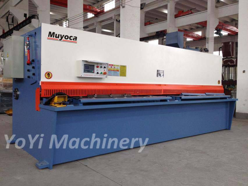 8mm 4000mm guillotine steel cutting machine