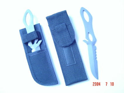 titanium knife blade for diving